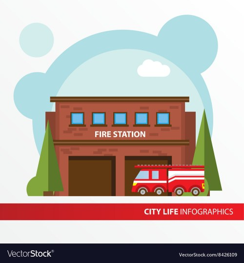 small resolution of fire station clipart