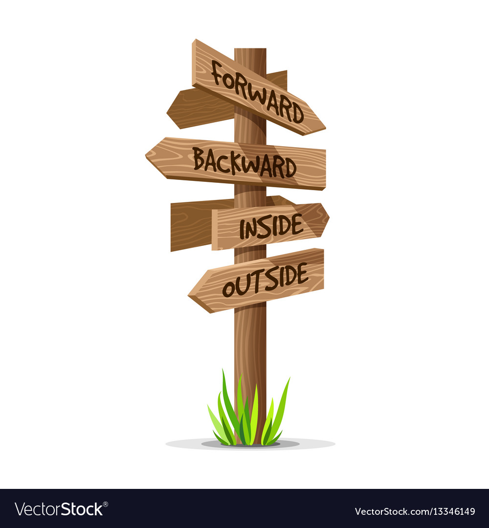 wooden arrow direction signboard