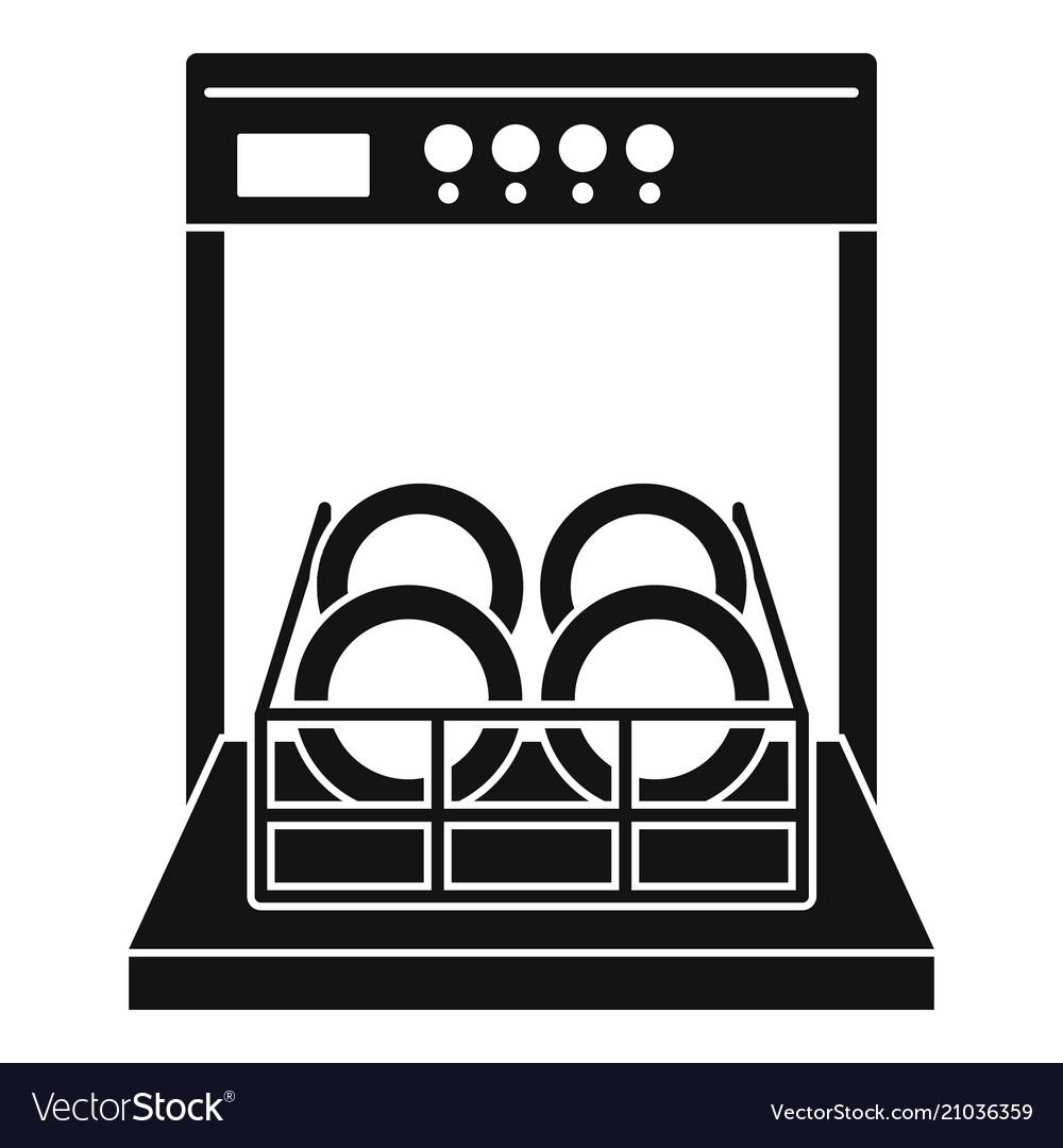 open dishwasher icon simple
