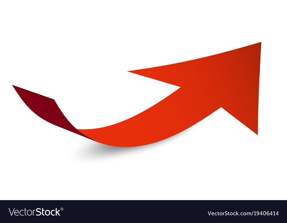 red arrow symbol bent