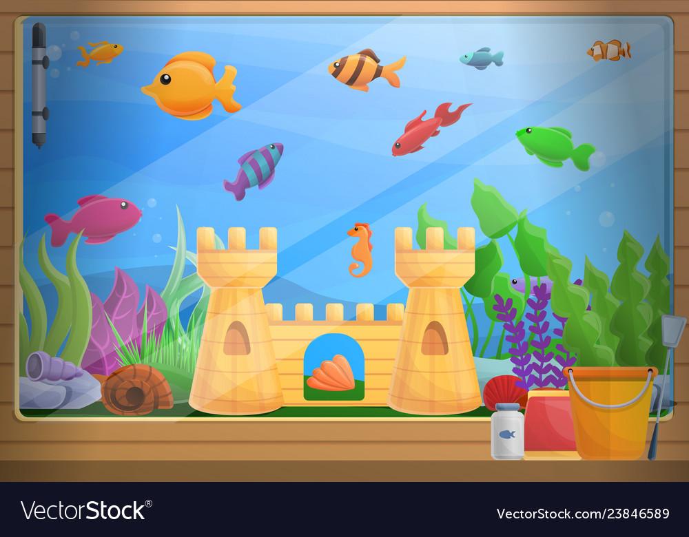 home aquarium concept background