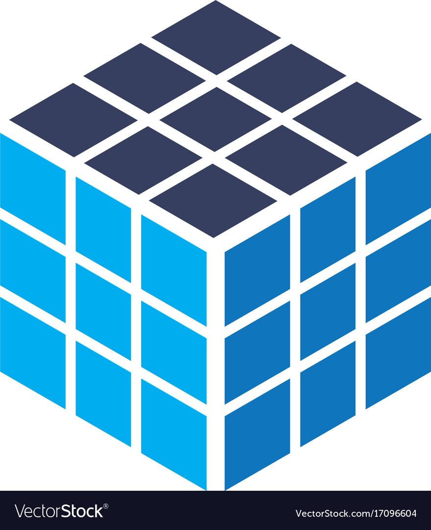cube rubik business logo