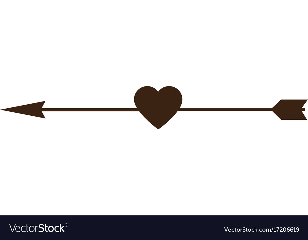 Download Heart love with arrow decorative frame Royalty Free Vector
