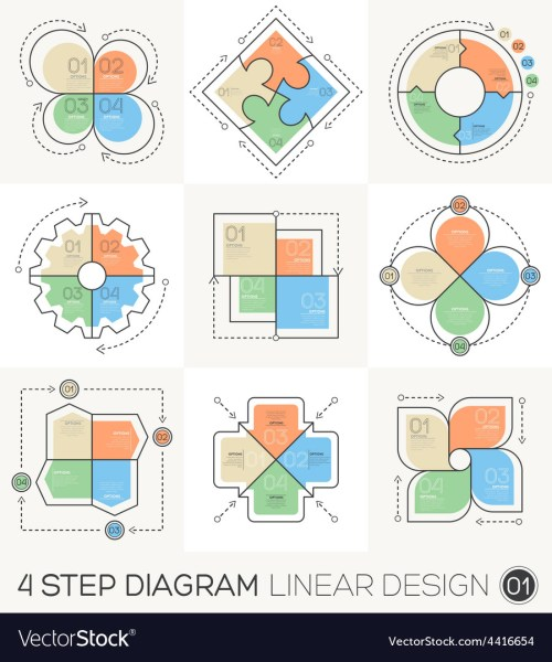 small resolution of circle gear arrows set linear line design elements vector image