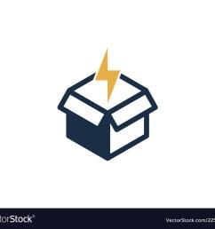 power box logo icon design vector image [ 1000 x 880 Pixel ]