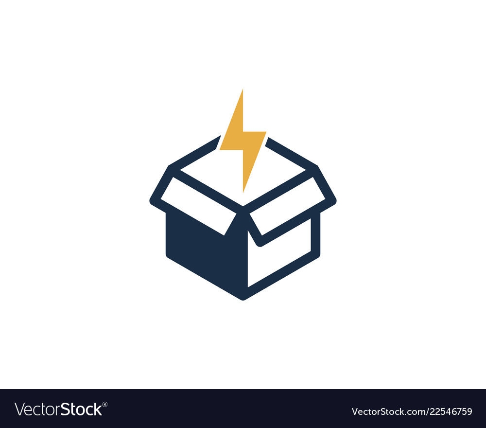 hight resolution of power box logo icon design vector image