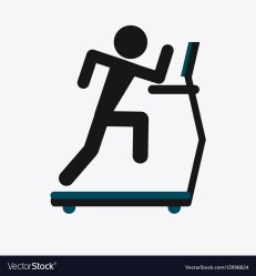 Fitness design gym icon flat Royalty Free Vector Image