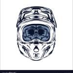 Helmet Motocross Skull Motocross Rider Royalty Free Vector