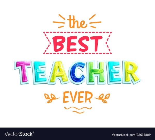 Teacher White Poster Royalty Free Vector