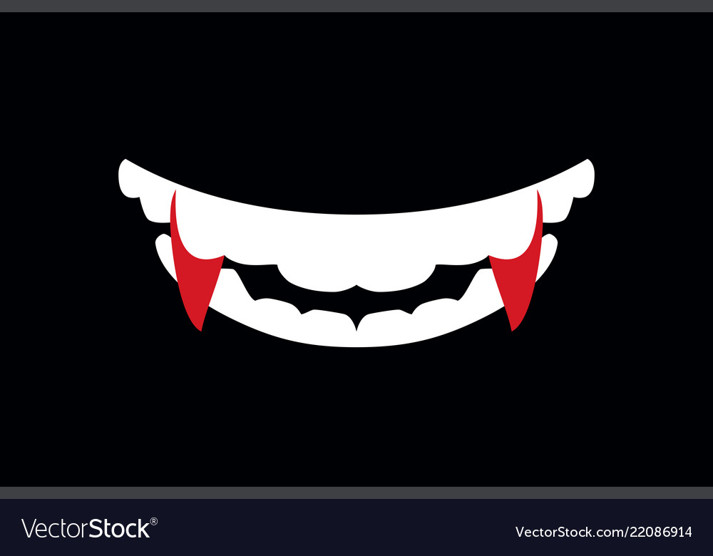 vampire mouth with fangs