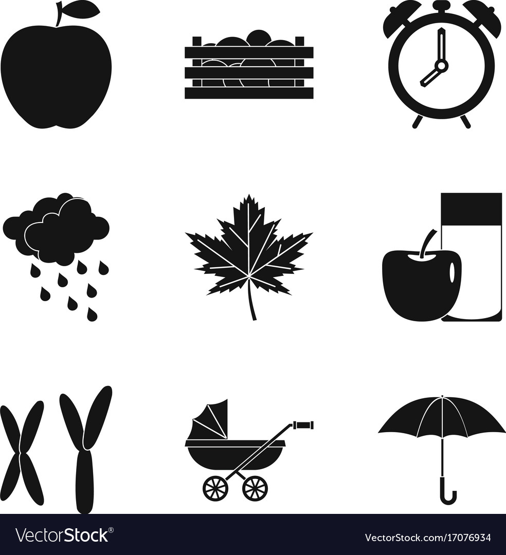 Chromosome Set Chromosome Icons Set Simple Style Vector Image On Vectorstock