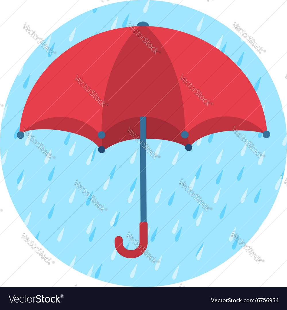 icon of red umbrella