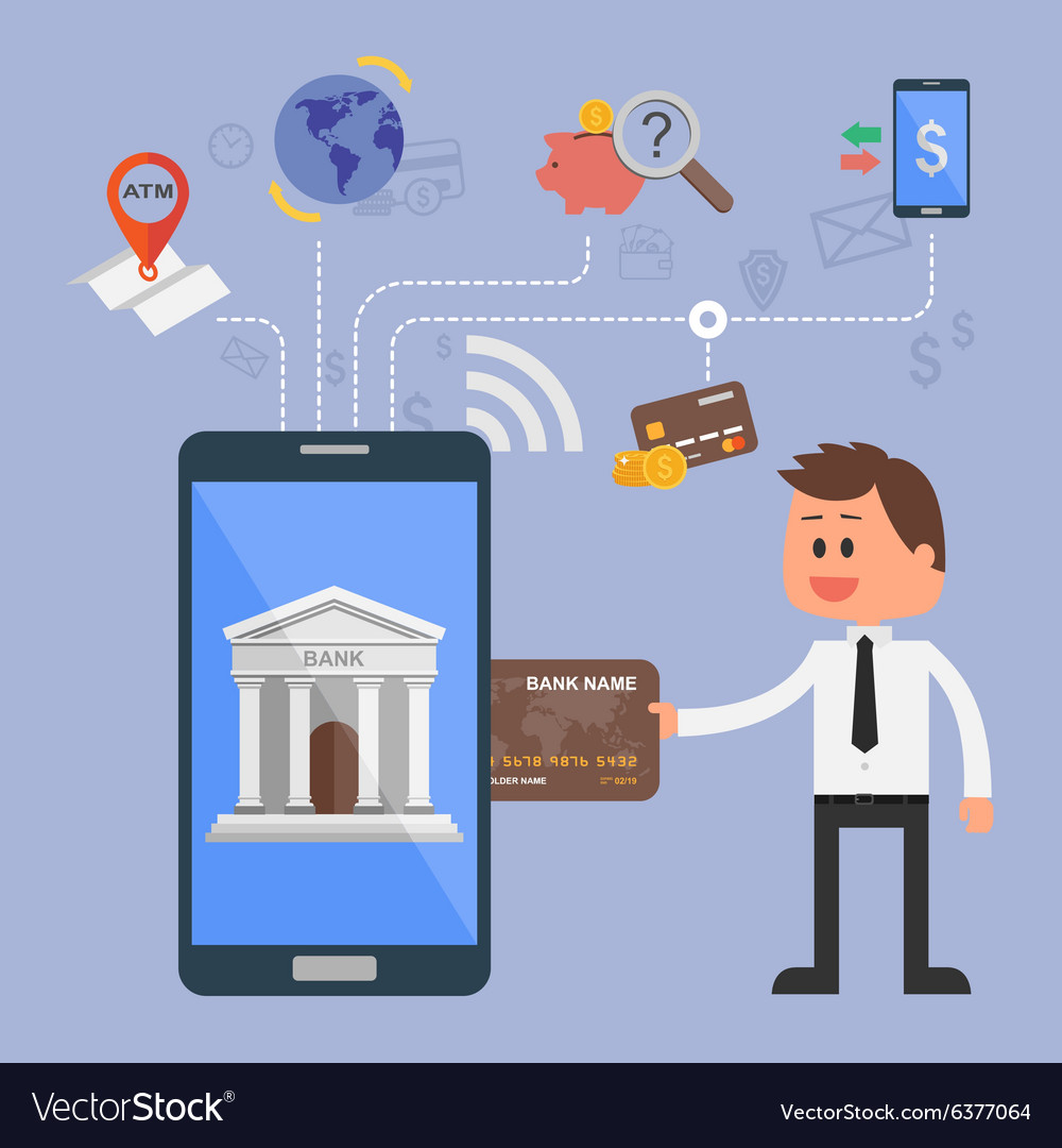 Concept Of Internet Banking Royalty Free Vector Image