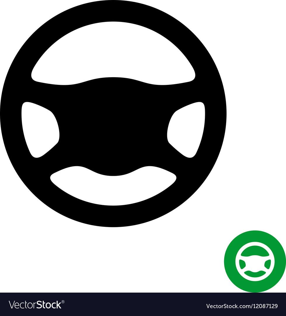 driving wheel black simple