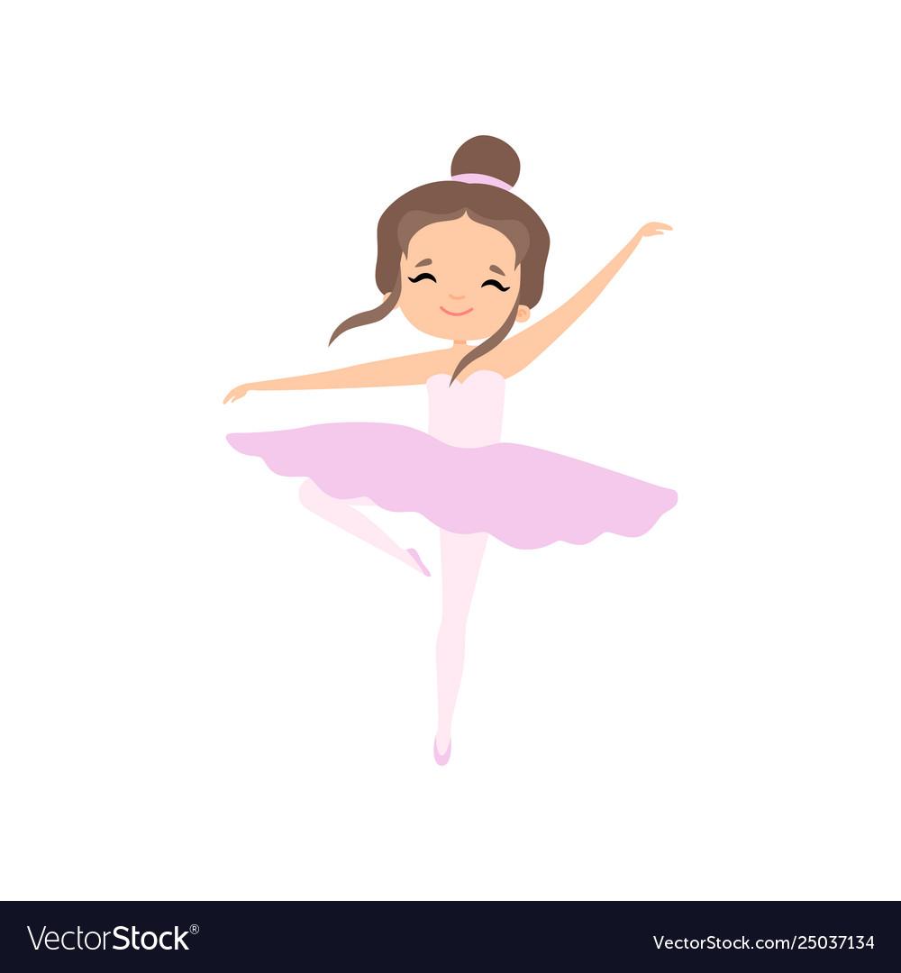 cute brunette little ballerina