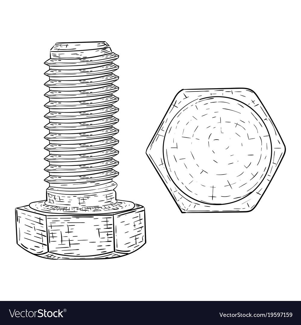 hight resolution of hex bolt diagram