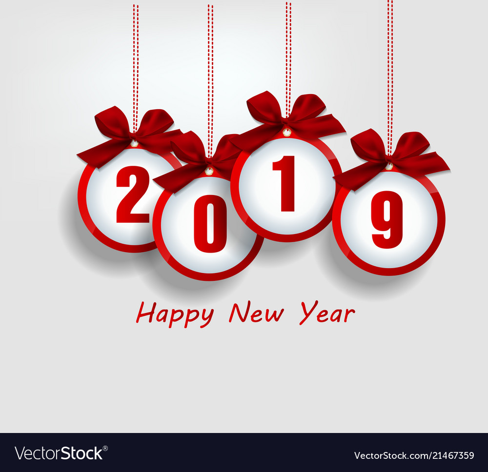 Happy New Year 2019 And Merry Christmas Royalty Free Vector