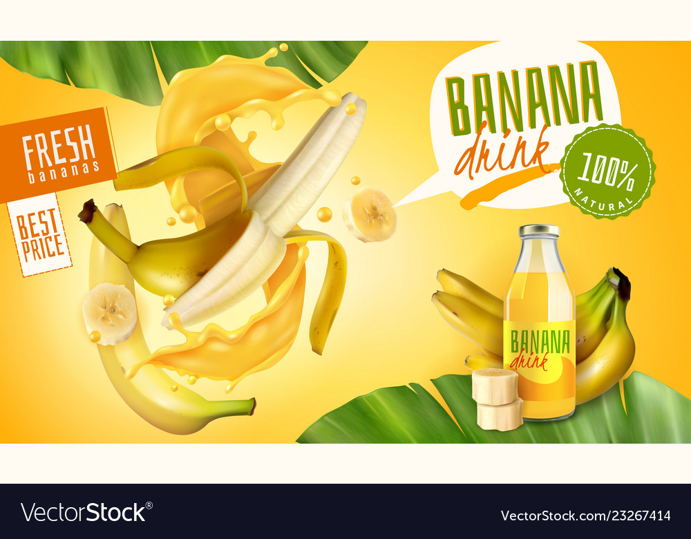 banana drink advertising poster