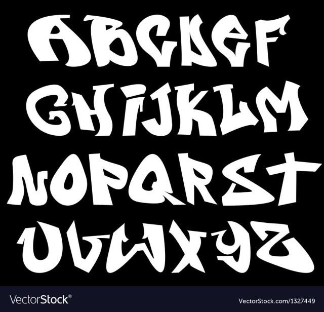 Graffiti Font Alphabet Letters Royalty