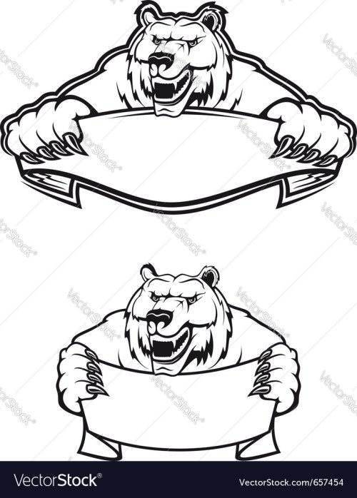 small resolution of wild bear mascot logo vector image