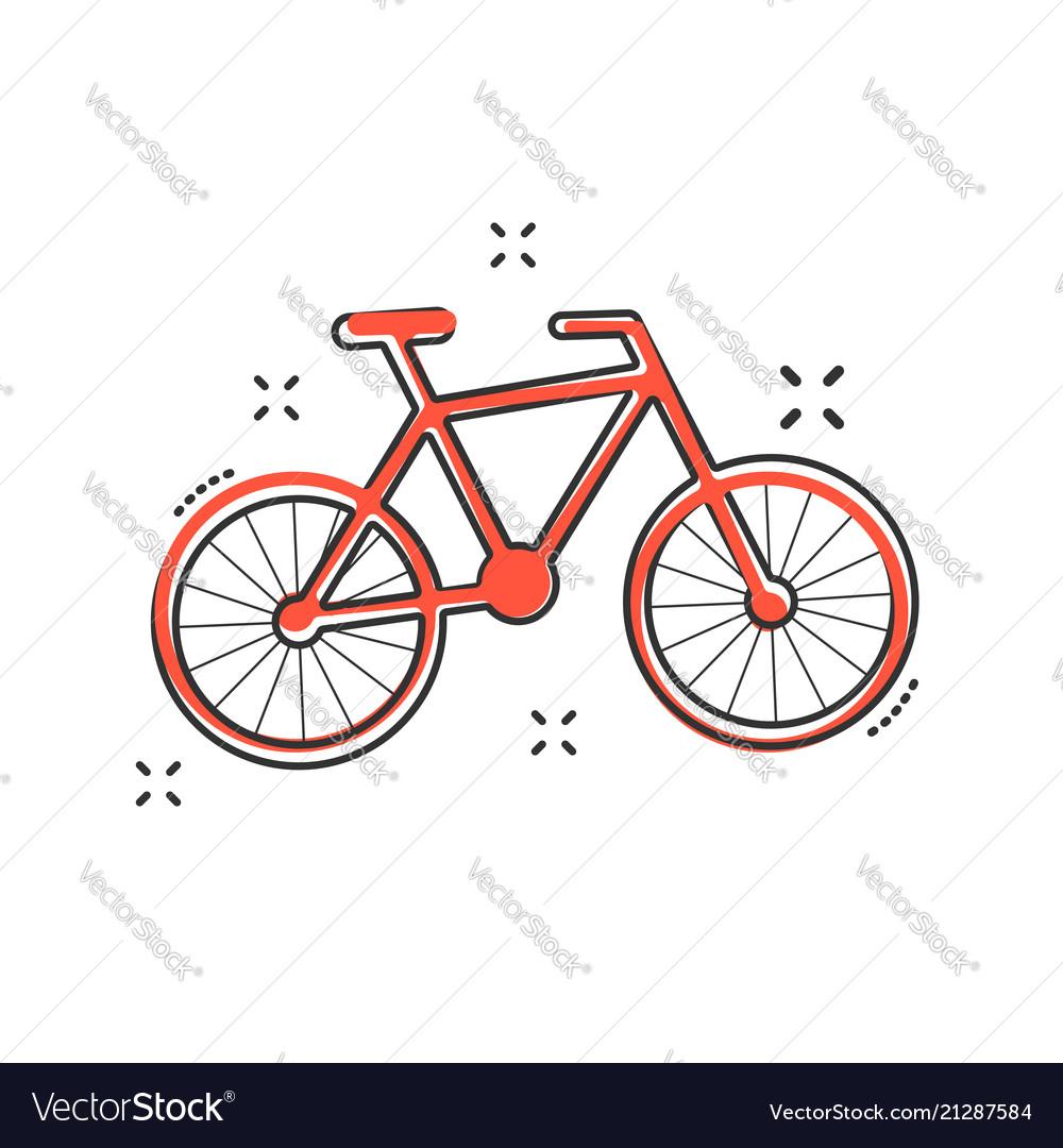 cartoon bike icon in