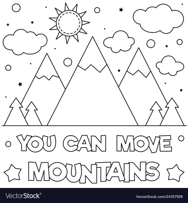mountain coloring page # 28