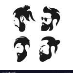 Mens Hair Salon Logo Royalty Free Vector Image