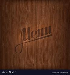 Restaurant menu design on wood background Vector Image