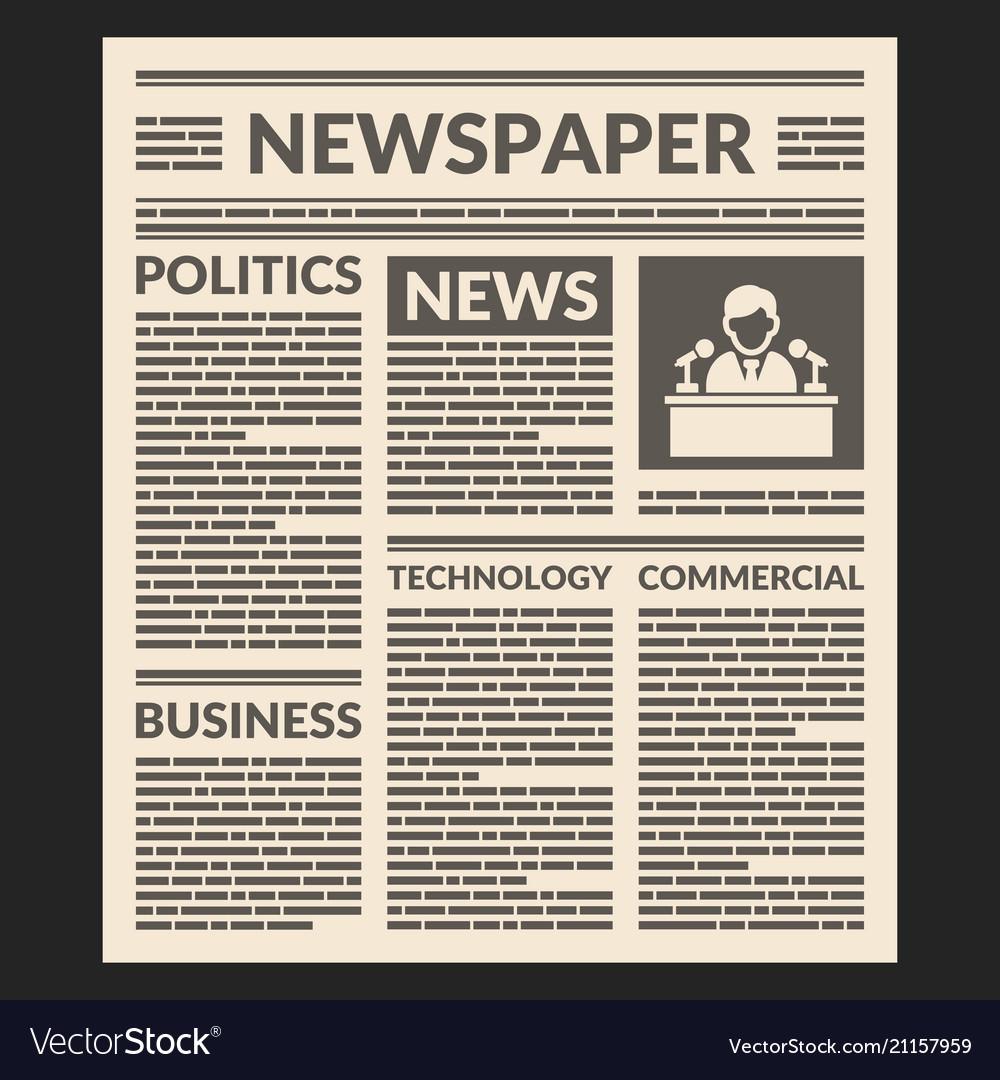 newspaper template ai