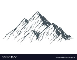mountain drawn vector hand sketch mountains illustration royalty outdoor ridge silhouette graphic peaks forest background isolated landscape peak camping vectors