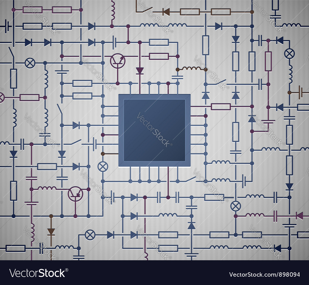 medium resolution of electrical circuit diagram vector image