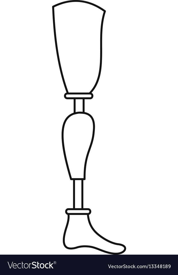 Prosthetic Leg Drawing : prosthetic, drawing, Prosthesis, Outline, Style, Royalty, Vector, Image