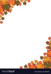 border autumn leaf landscape vector royalty vectorstock
