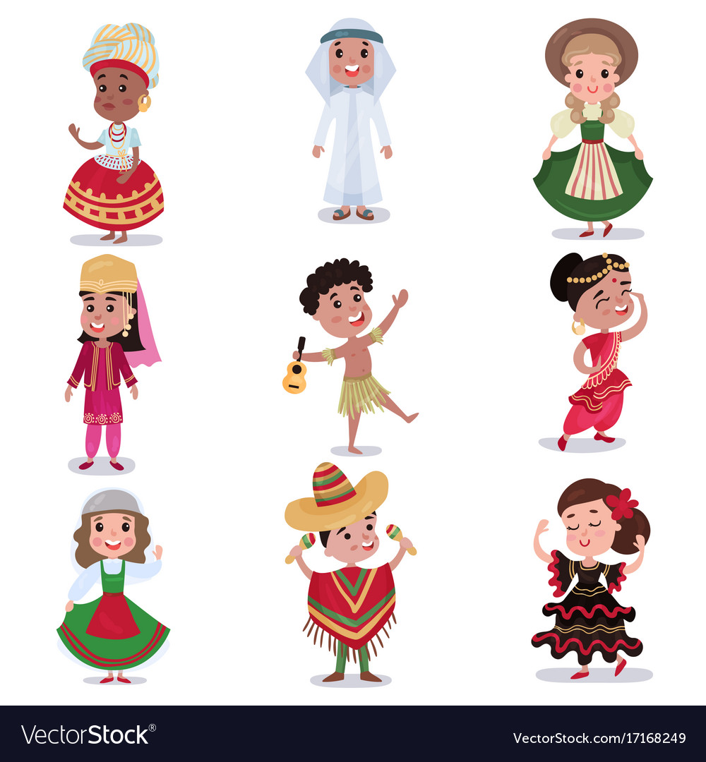 kids in traditional clothes