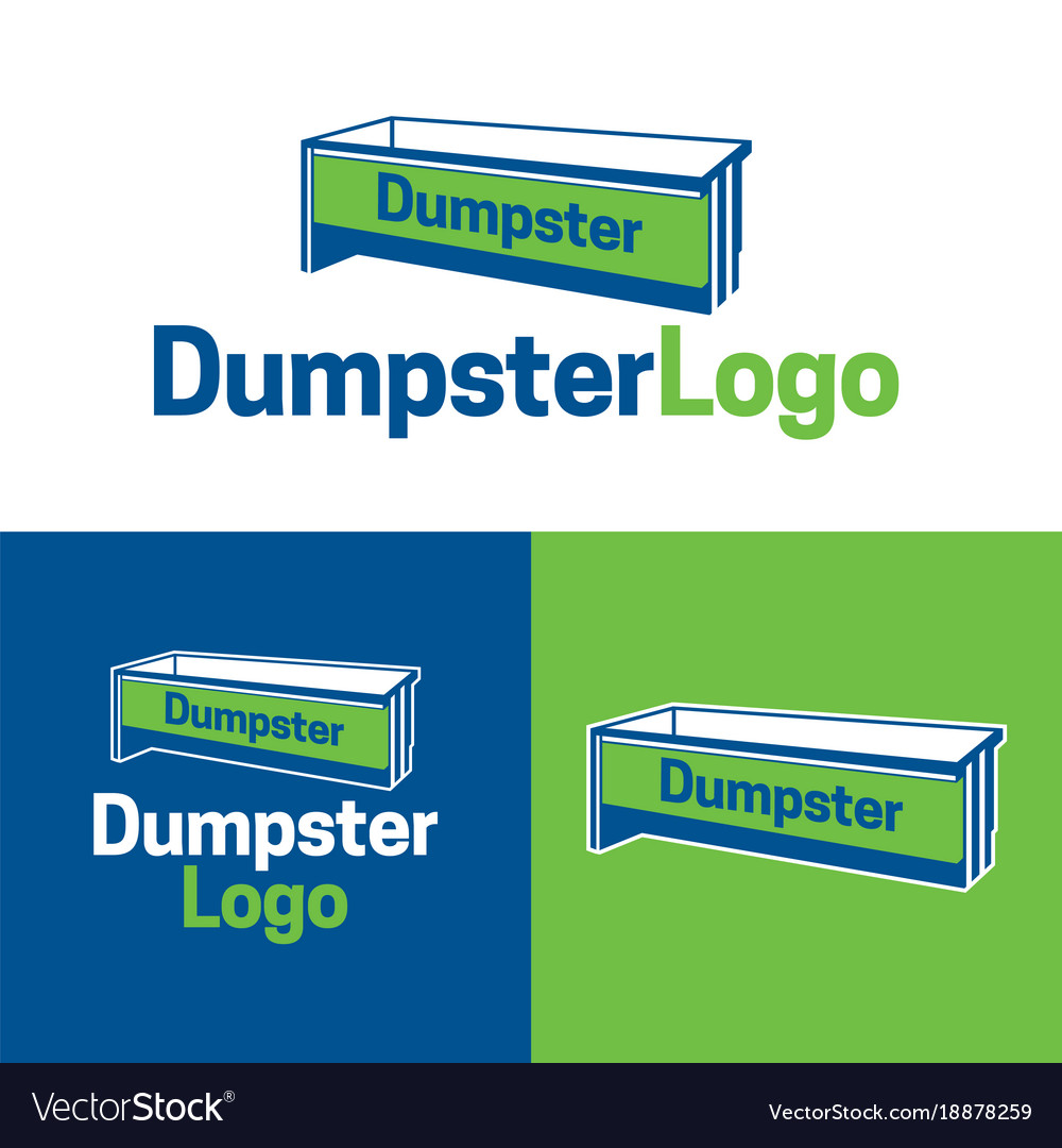 dumpster logo and icon