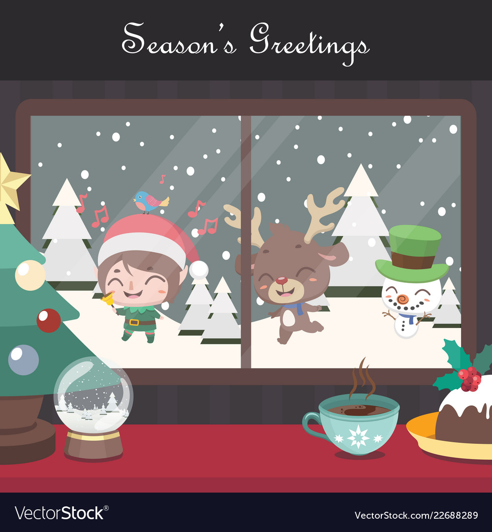 christmas scene background with