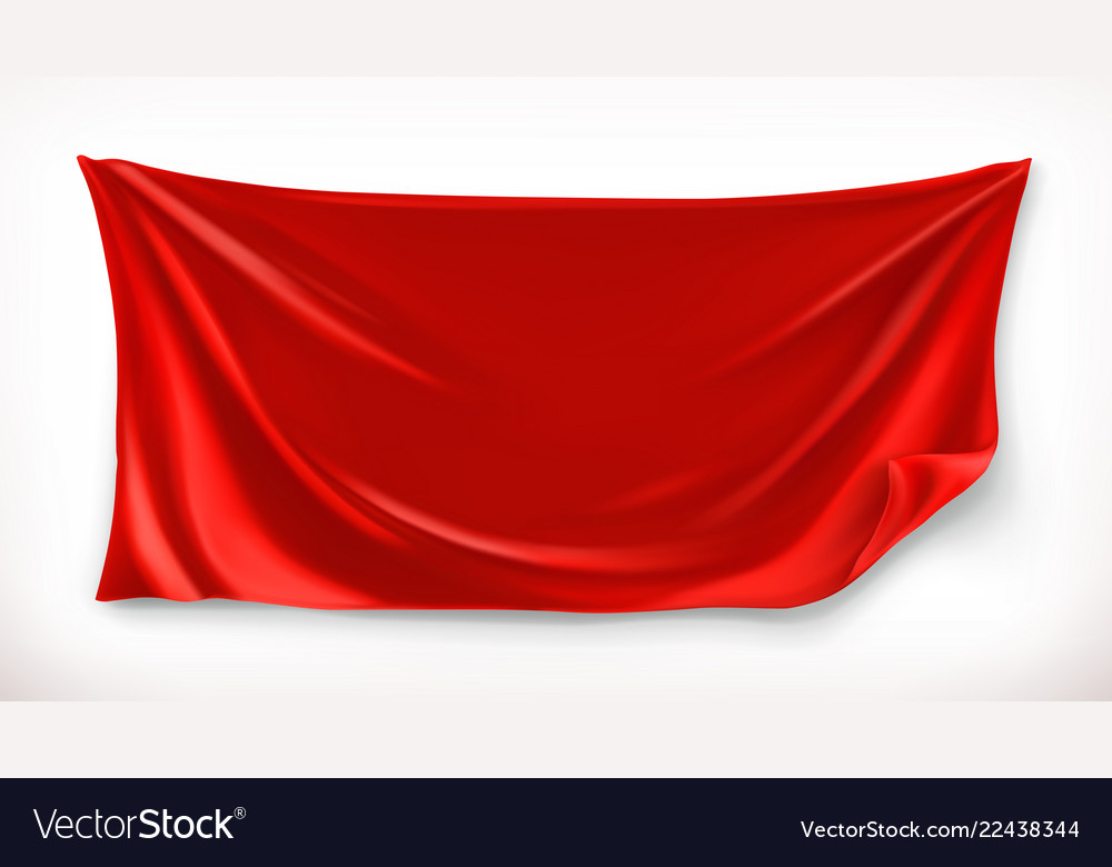 cloth red banner 3d