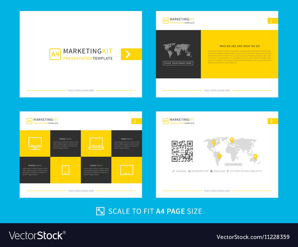 Marketing Kit Presentation Template Vector Image