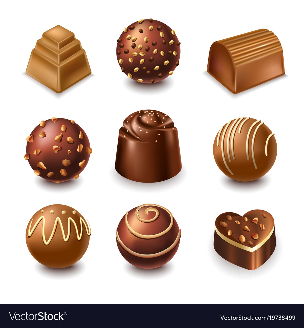 chocolate candies and comfits