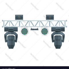 Truss Style Diagram Wiring For Motorcycles Flat Stage Metal Concert Lighting Vector Image