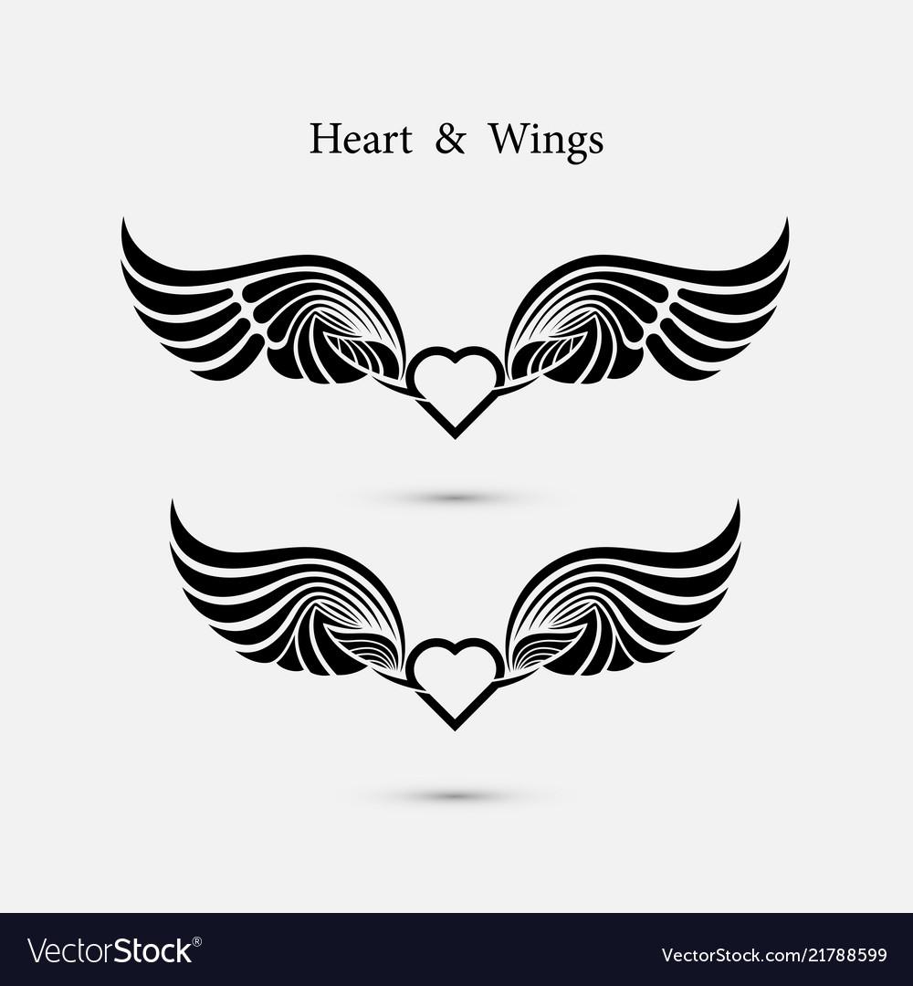 heart logo with angel