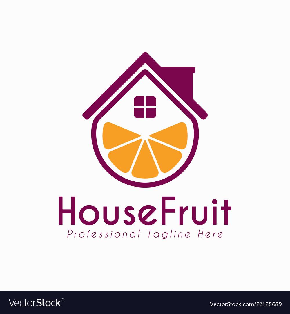 house fruit design logo