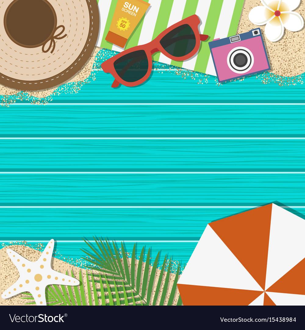 Summer Holiday Background Season Vacation Vector Image