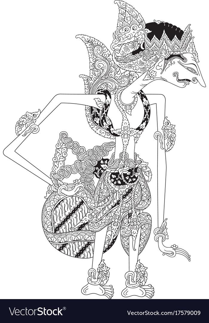 Wayang Rama Vector : wayang, vector, Jungkungmardeya, Royalty, Vector, Image, VectorStock
