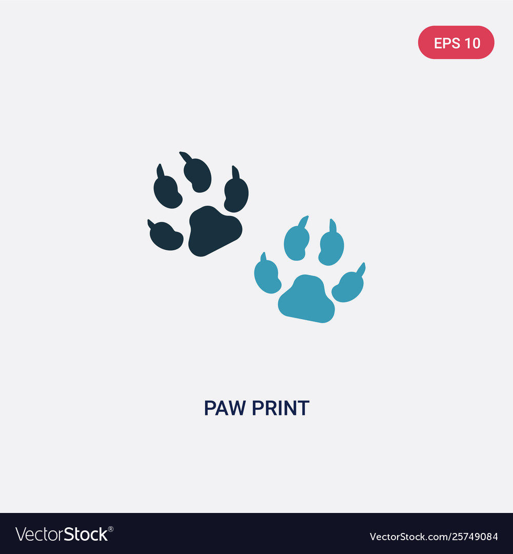 two color paw print