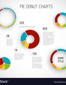 Donut pie chart templates vector image also royalty free rh vectorstock