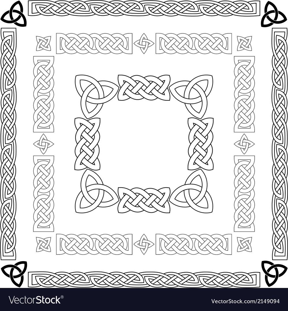 Celtic Knots Patterns Frameworks Royalty Free Vector Image