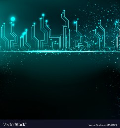 circuit board background with blue electronics vector image [ 999 x 1080 Pixel ]