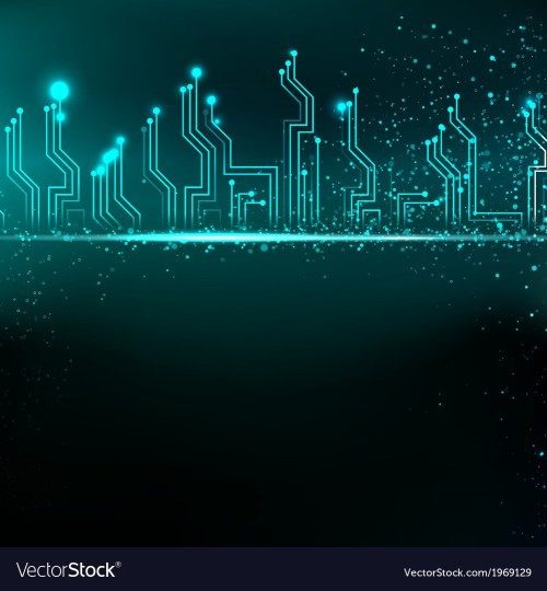 small resolution of circuit board background with blue electronics vector image