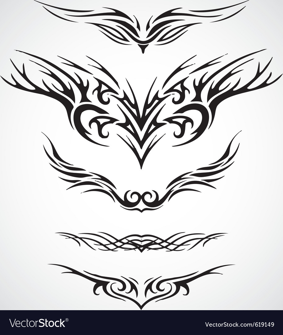 wings tribal style tattoo